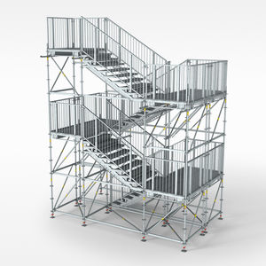 Attractive Straight Staircase / Metal / Building Site