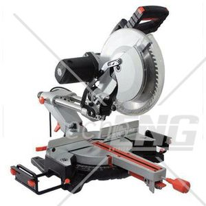 miter saw labeled. cut-off saw / wood bench-top miter labeled