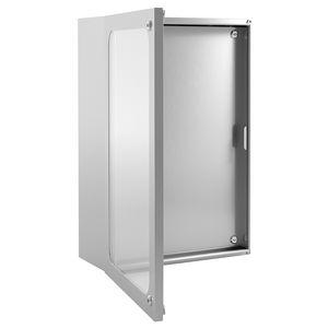 Wall Mount Enclosure / Rectangular / Stainless Steel / With Transparent Door