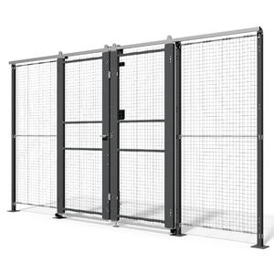 safety door / sliding / metal / wire mesh