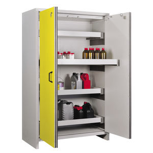 Charming Storage Cabinet / Free Standing / With Drawer / Metal