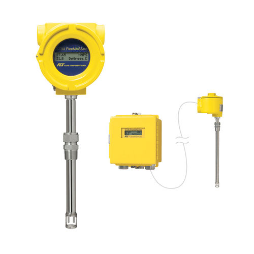 mass flow meter / thermal / for gas / insertion