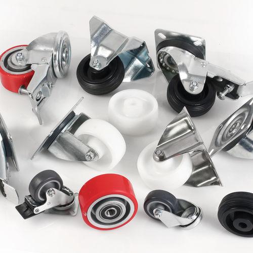 swivel caster / base plate / industrial / steel