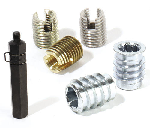 Threaded insert / self-tapping / stainless steel / round ENGRENAGES HPC - CT MECA