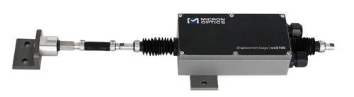 linear displacement sensor / non-contact / fiber optic / with fiber Bragg grating