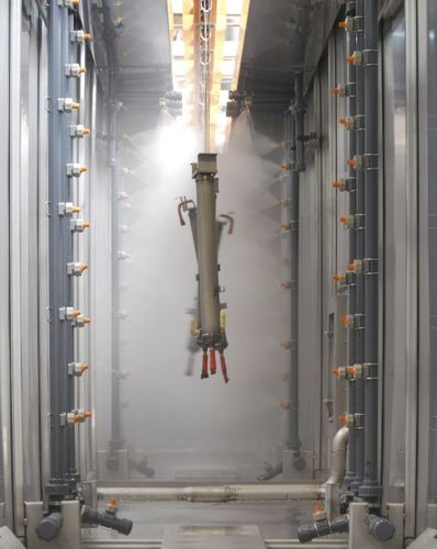 surface pre-treatment tunnel