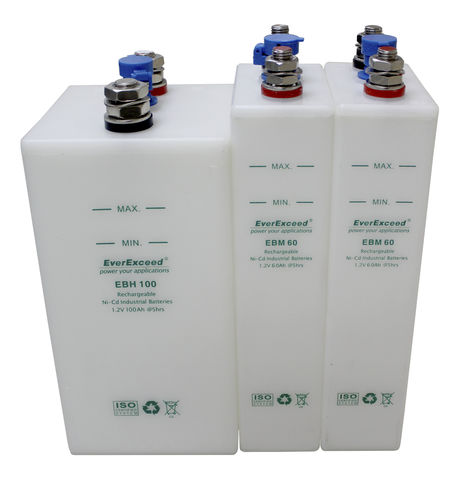 Ni-Cd battery / CE / IEC / TUV EBH series EverExceed Industrial Co. Ltd
