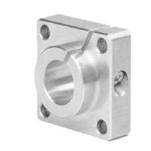 shaft end support / flange / aluminum / precision