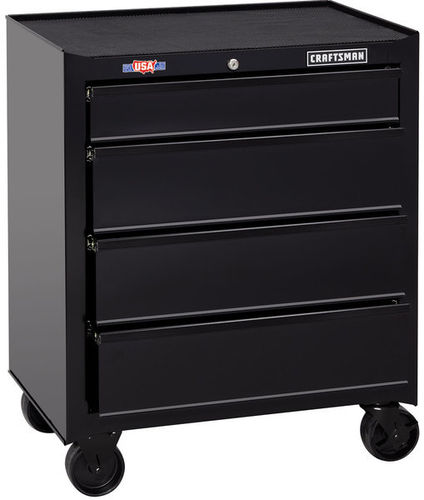storage cabinet / on casters / 4-drawer / steel