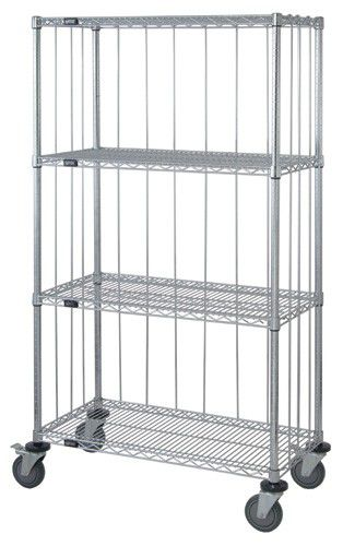 storage cart metal shelf wire mesh platform m1836c4xre quantum storage systems
