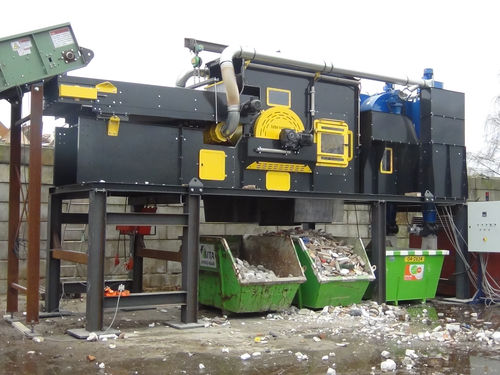 drum separator / waste / construction / compact
