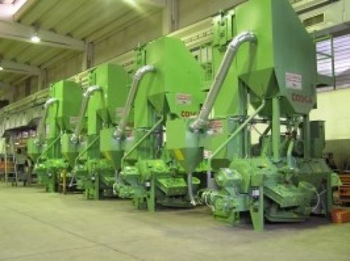 manual shot blasting machine / for wire / continuous