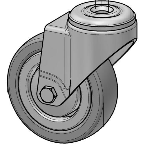 swivel caster / base plate / threaded stud / ball bearing