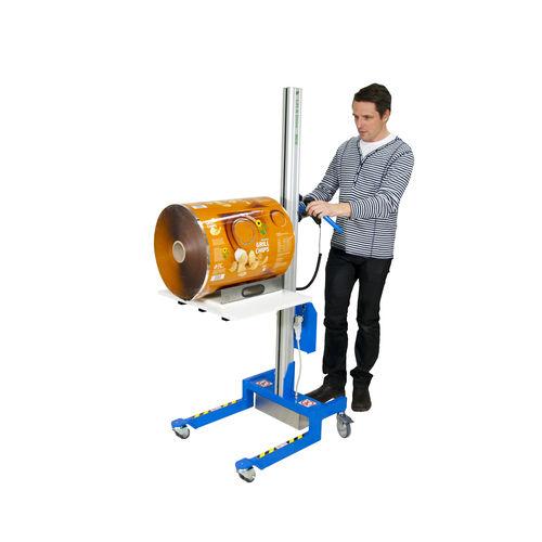 manipulator with tray / for reel handling / for rolls / ergonomic