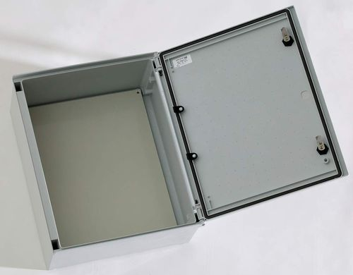 wall-mount enclosure / rectangular / polyester / with hinged cover