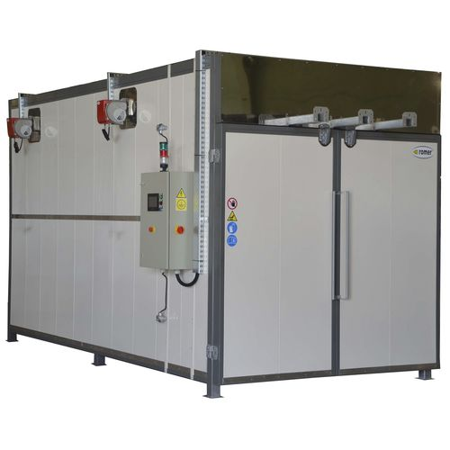 heat treatment oven / powder coating / truck-in / gas