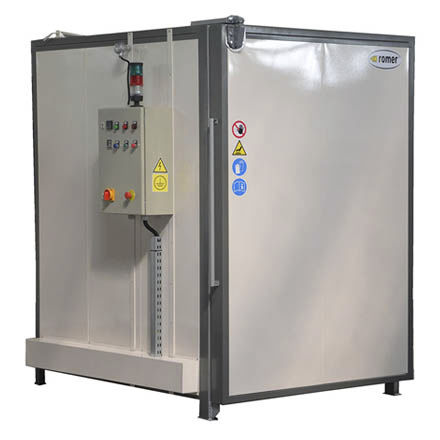 curing oven / powder coating / truck-in / gas