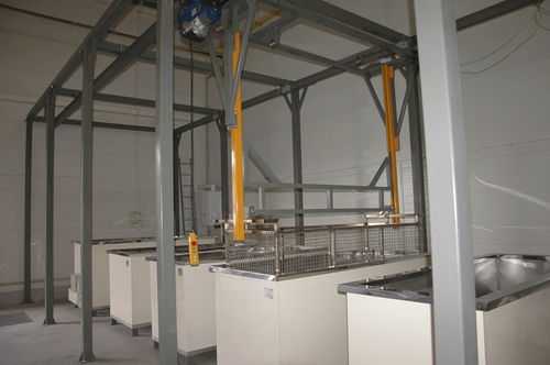 immersion cleaning machine / with rinsing