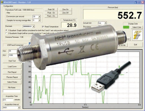 relative pressure transmitter / absolute / analog / with electrical output signal