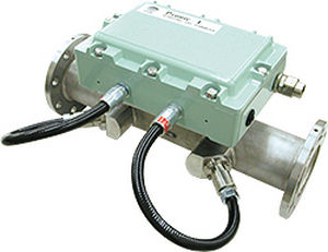 ultrasonic flow meter / for gas / clamp-on