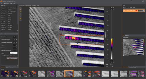 data analysis software / thermal analysis / editing / for UAVs