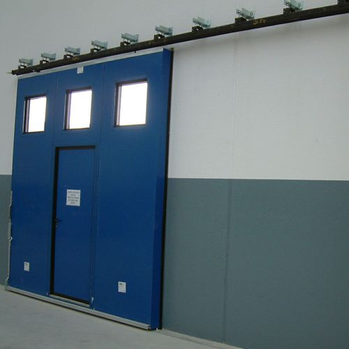 sliding door / metal / exterior / industrial