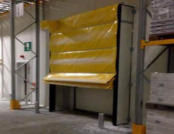 fold-up door / for cold storage / industrial / automatic