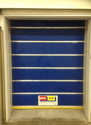 fold-up door / for cold storage warehouses / industrial / automatic