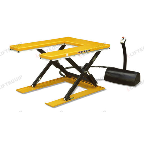 lift table with U-shaped platform / scissor / hydraulic / stationary