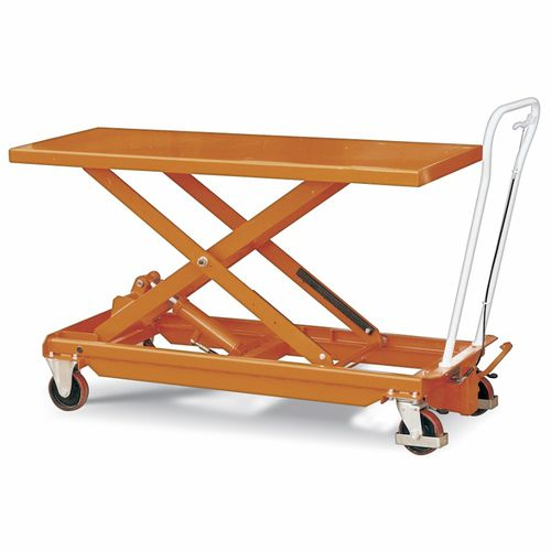 scissor lift table / electric / mobile