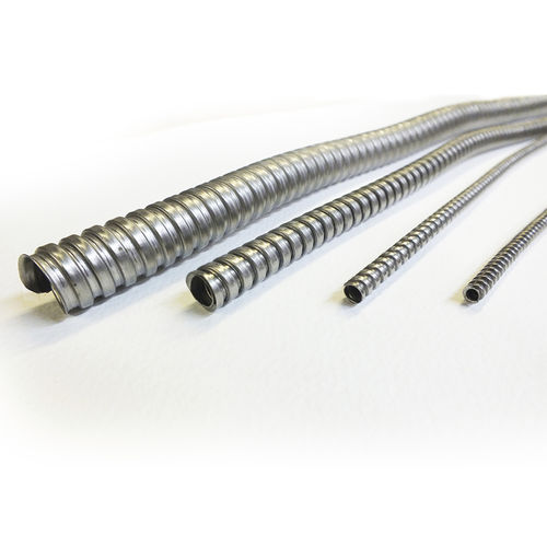 spiral conduit / for cables / for electrical cables / stainless steel