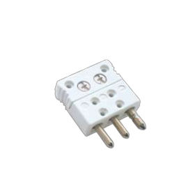 electrical power supply connector / male / 3-pole / for thermocouples