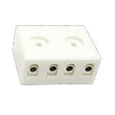 screw connection terminal block / for temperature sensors / tripolar / compact