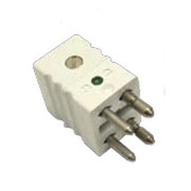 electrical power supply connector / male / 4-pole / for thermocouples