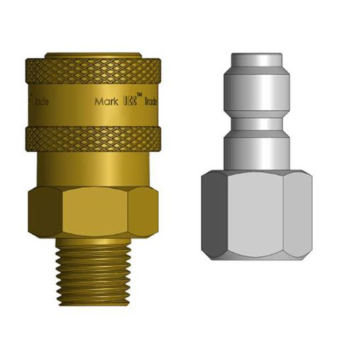 barbed fitting / straight / hydraulic