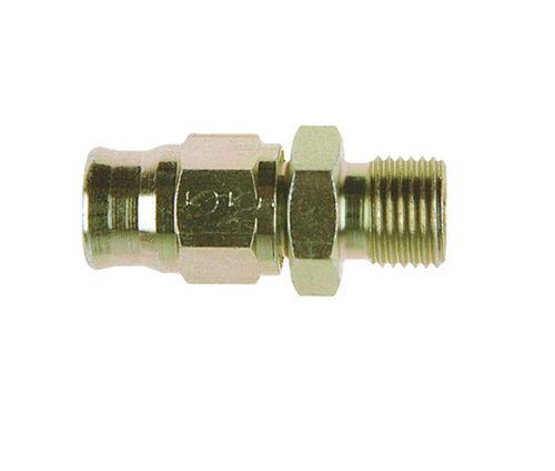 hydraulic adapter / male / threaded