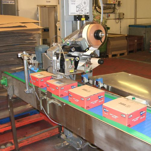 Linear labeler / PLC-controlled / automatic / front 410 series LOGOPAK