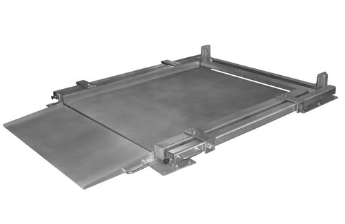 Low-profile floor scale / with separate indicator / stainless steel WPC GIROPES