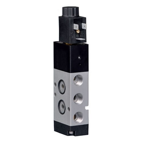 solenoid-operated pneumatic directional control valve / pilot-operated / 3/2-way / 5/2-way