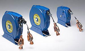 grounding reel / self-retracting / fixed / fully-enclosed