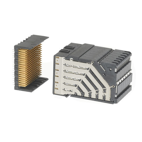 backplane connector / DIN / rectangular / high-density