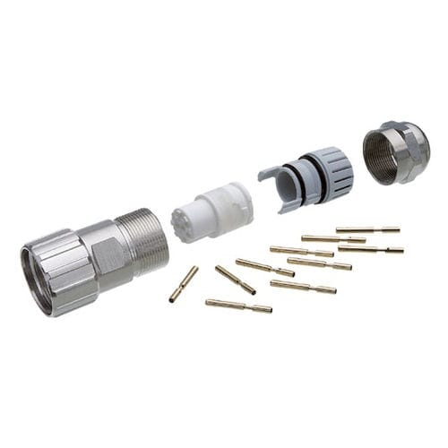 M23 connector / data / electrical power supply / DIN