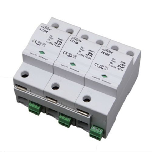 Type 1 lightning arrester / AC / 3-pole / DIN rail FV50B/3-xxx S series FATECH ELECTRONIC (FOSHAN) CO., LTD