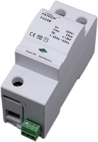 Type 1 surge arrester / single-pole / AC / DIN rail FV25B/1-xxx S series FATECH ELECTRONIC (FOSHAN) CO., LTD