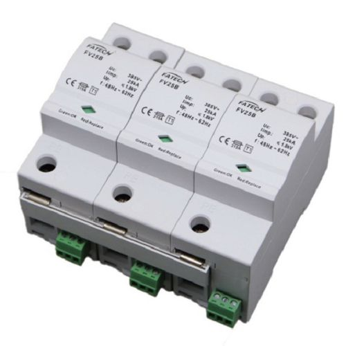 Type 1 surge arrester / three-phase / AC / DIN rail FV25B/3-xxx S series FATECH ELECTRONIC (FOSHAN) CO., LTD