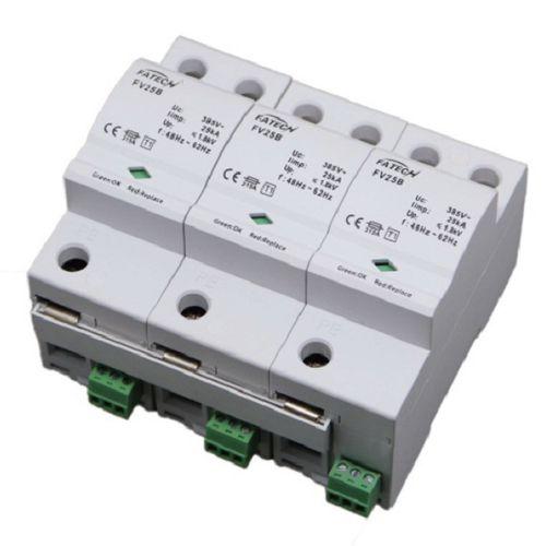 type 1 surge arrester / three-phase / AC / DIN rail