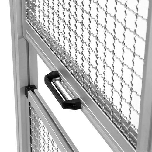 vertical sliding door / lift-and-slide / aluminum / industrial
