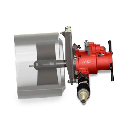 pneumatic beveling machine / portable / for pipe ends / flange