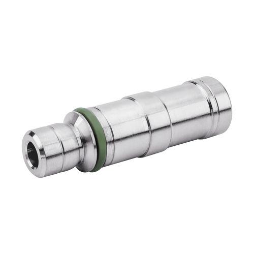 knock-in insert / nickel-plated brass / round / pneumatic