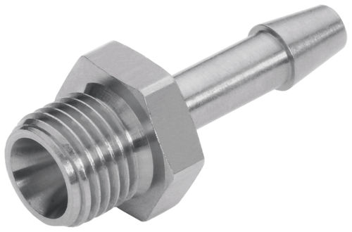 screw-in fitting / barbed / straight / pneumatic